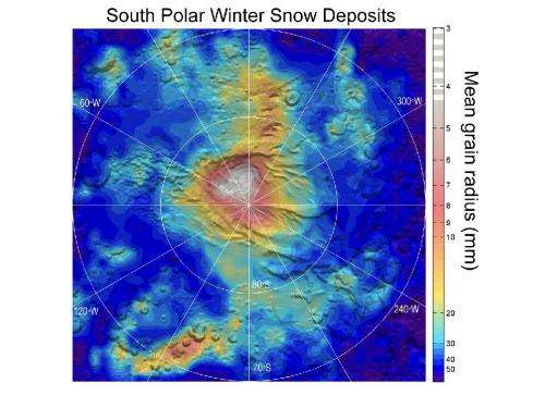 NASA observations point to 'dry ice' snowfall on Mars