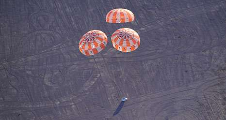 NASA puts Orion backup parachutes to the test