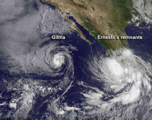 NASA sees 2 tropical cyclones in Eastern Pacific