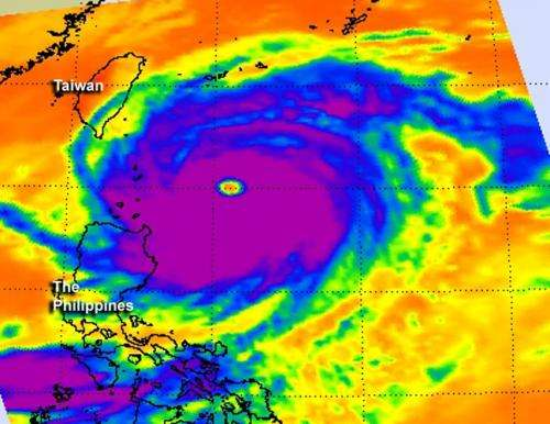 NASA sees a wide-eyed Super Typhoon Jelawat
