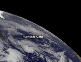 NASA sees Chris become first hurricane of Atlantic season