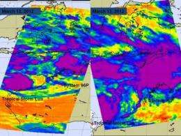 NASA sees double tropical trouble in northern Australia