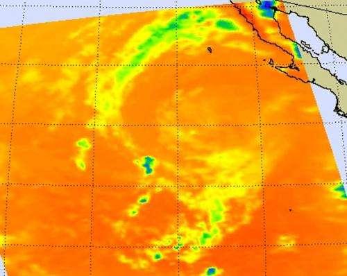 NASA sees fading post-Tropical Cyclone John's warmer cloud tops