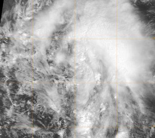 NASA sees fifteenth Atlantic tropical depression born