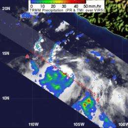 NASA sees hot towers as Tropical Storm Fabio's trigger