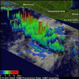 NASA sees intensifying Hurricane Carlotta threatening Mexico