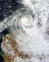NASA sees Tropical Storm Heidi approaching Australia's Pilbara coast