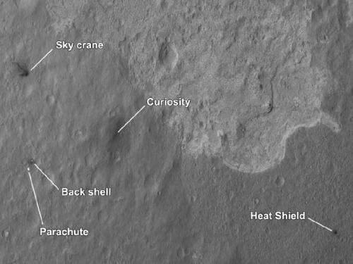NASA shows first 'crime scene' photo of Mars landing