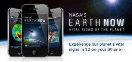 NASA's new 'Earth now' app: your world, unplugged