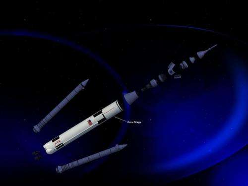 NASA space launch system core stage moves from concept to design