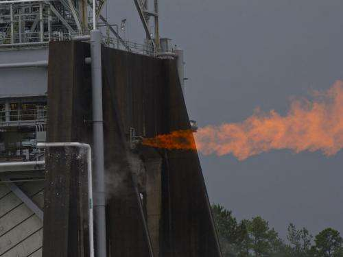 NASA surpasses test facility record with J-2X powerpack test