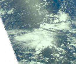 NASA tracks tiny Tropical Storm Guchol in western North Pacific