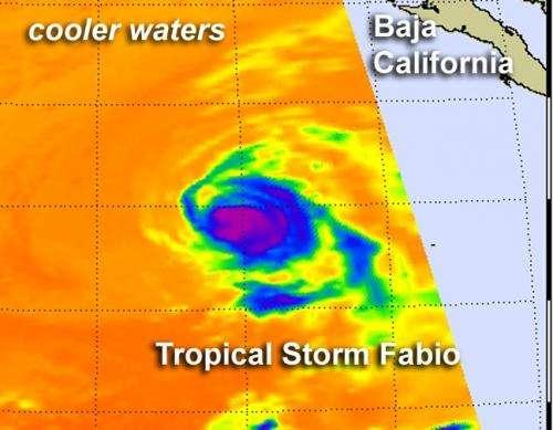 NASA watching Tropical Storm Fabio head to southern California