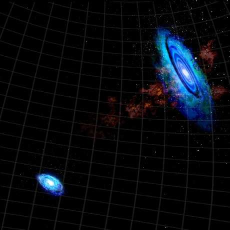 Neighbor galaxies may have brushed closely, astronomers find
