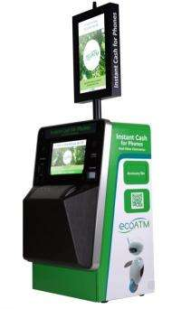 New 'ATM' takes old phones and gives back green