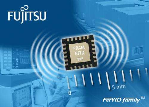 New chip for high-frequency RFID tags with industry-leading 9 KB FRAM