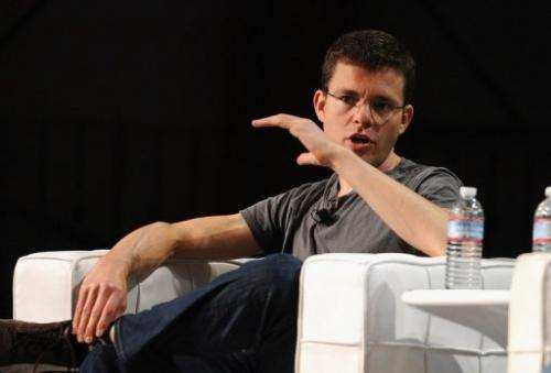 PayPal co-founder Max Levchin speaks in San Francisco on September 12, 2011