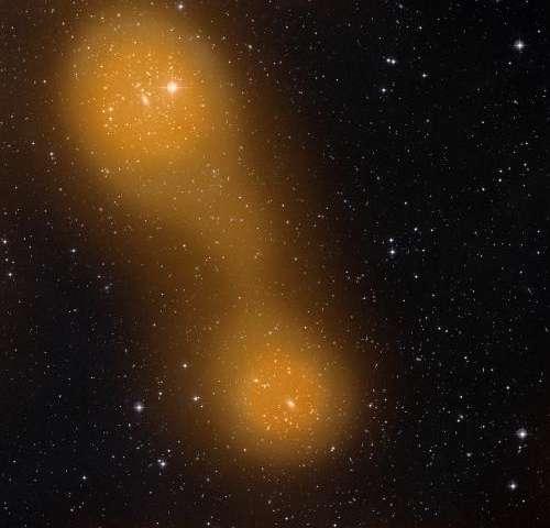 Planck spots hot gas bridging galaxy cluster pair