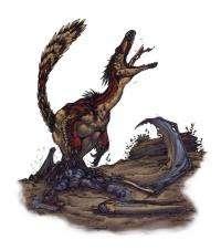 Preserved bone of Pterosaur found in stomach of Velociraptor