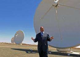 President Jacob Zuma visits the Square Kilometre Array infrastructure