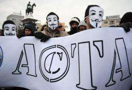 Protest against ACTA in Sofia today