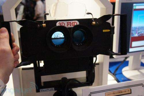 Prototype binoculars from NHK show-stop CEATEC crowd