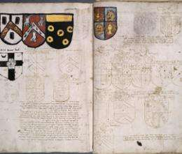 Qm historians discover medieval banking records hidden under coats of arms