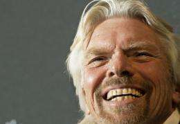 Richard Branson congratulates