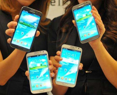 Samsung said the Galaxy Note II will eventually hit stores in 128 nations