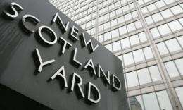Scotland Yard promotes its anti-terrorist hotline as a confidential service