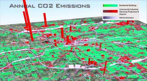 Study maps greenhouse gas emissions to building, street level for U.S. cities