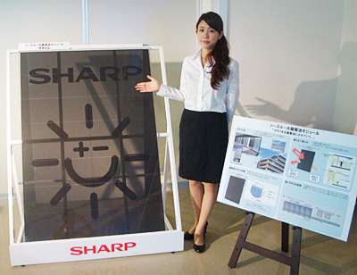 Sharp's solar panels throw posh light on city high-rise