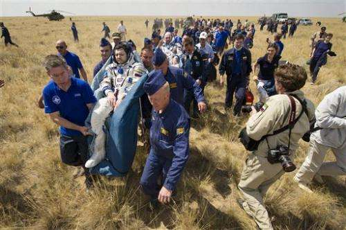 Soyuz spacecraft lands safely in Kazakhstan