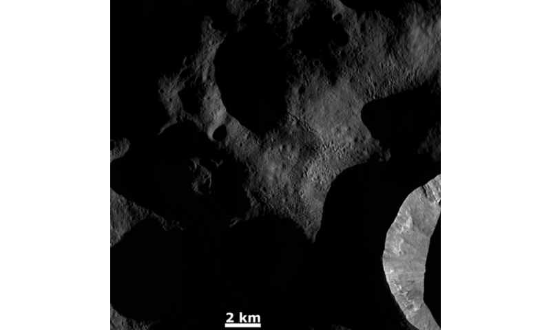 Space image: Dawn on Vesta