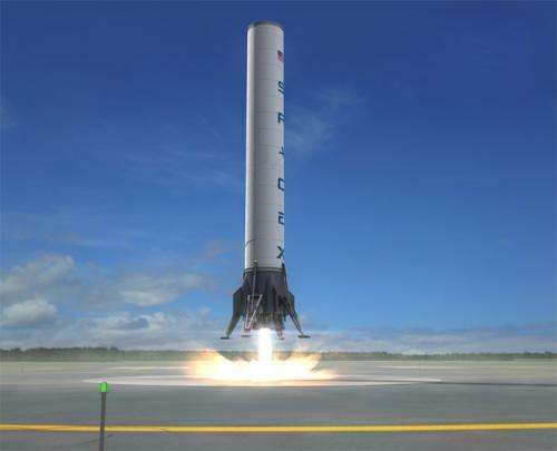 SpaceX's 10-story reuseable grasshopper rocket takes a bigger hop