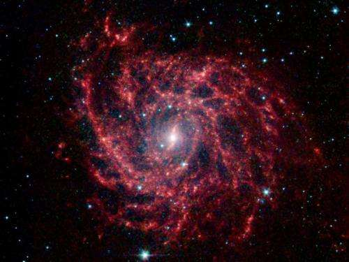 Spider Web of Stars in Galaxy IC 342