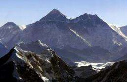 The  8,848 metre high Mount Everest was first scaled by Edmund Hillary and Sherpa Tenzing Norgay in 1953