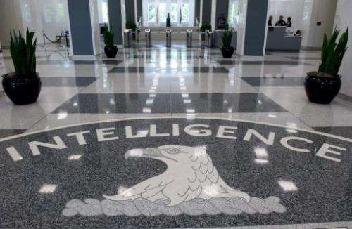 The CIA headquarters lobby is pictured in Langley, Virginia, in 2008