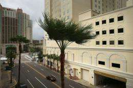 The Tampa Bay Times Forum is seen in August 2012 as the city prepared for the RNC as Tropical Storm Isaac blew in