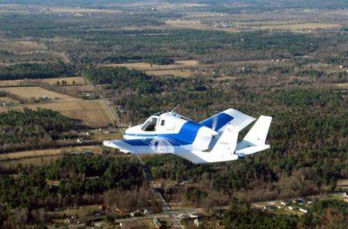 The two-seater car-plane, which has the rounded features of a Fiat 500 and collapsible wings, is on presale for $279,000