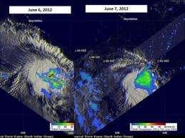 Tropical Depression Keuna's rainfall weakens