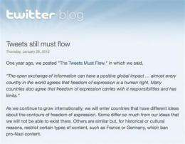 Twitter's new censorship plan rouses global furor (AP)