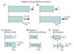 Research pair theorize metamaterials that exhibit negative compressibility transitions