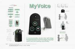 UH students develop prototype device that translates sign language