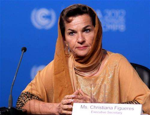 UN climate boss: No support for tough climate deal