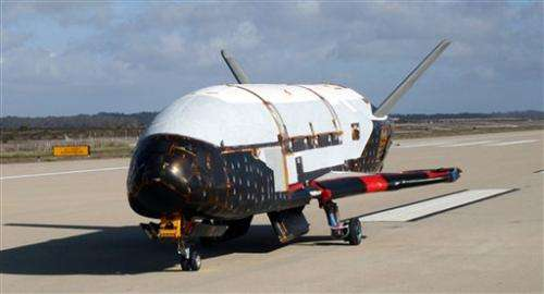 Unmanned Air Force space plane lands in California