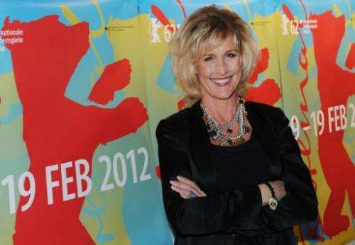 US environmental activist Erin Brockovich-Ellis at the 62nd Berlin International Film Festival on February 15, 2012