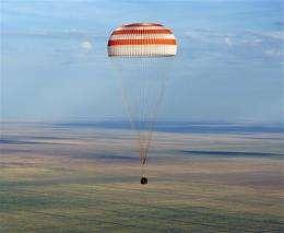 US, Russian space trio lands in Kazakhstan