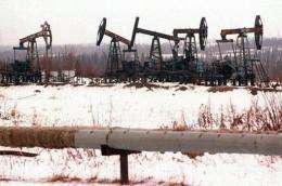 View of an oil field in Siberia