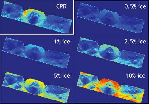 Walls of lunar crater may hold patchy ice, LRO radar finds